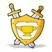 image of anvil  - cartoon blacksmith anvil heraldry symbol - JPG