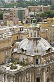 Domed Building And Roof Garden In Rome