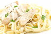 pic of italian parsley  - Chicken Fettuccini alfredo with fresh curly parsley - JPG