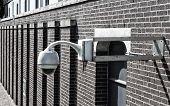 picture of cctv  - cctv camera outside of a building in the netherlands - JPG