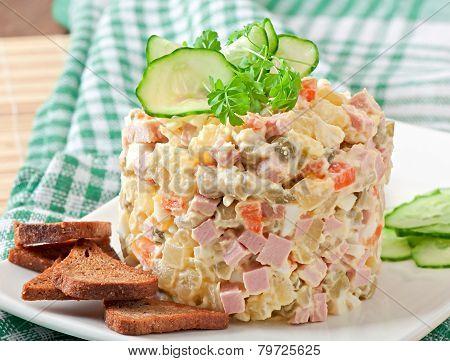 Как украсить салат викинг фото