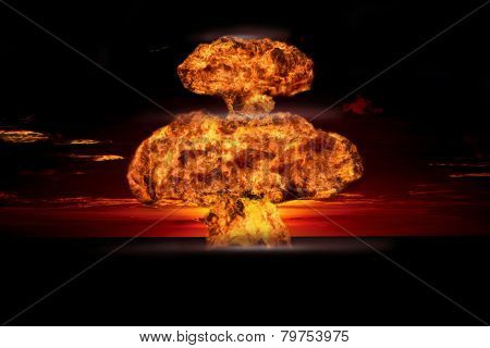 Nuclear explosion in an outdoor