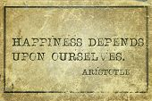 image of philosopher  - happiness depends upon ourselves - JPG