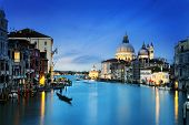 stock photo of salute  - Grand Canal and Basilica Santa Maria della Salute Venice Italy and sunny day - JPG
