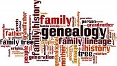 image of descending  - Genealogy word cloud concept - JPG