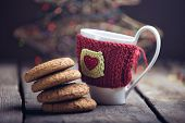 pic of bangla  - good morning with coffe cup and cake - JPG