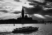 Постер, плакат: San Giorgio Maggiore In Venice At Sunset B&w