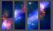 image of stellar  - Patterns of cosmic stellar nebula galaxies stars - JPG