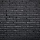 image of stonewalled  - square part of black painted brick wall - JPG
