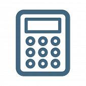 picture of calculator  - Calculator Web Icon - JPG