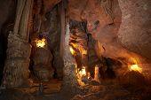picture of stalagmite  - Unique cave formation - JPG