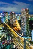 stock photo of minato  - Aerial view of Tokyo skyscrapers Hamamatsucho Minato Japan - JPG