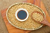 stock photo of soybeans  - Soybean name Glycine max Fabaceae family rich protein acid amin vitamin an orgaric cheap nutrition product to process soymilk soy sauce tofu cooking oil suitable for diet menu - JPG