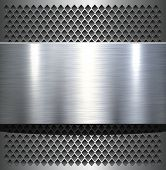 stock photo of alloy  - Metal plate texture polished metal background - JPG