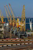 pic of boxcar  - Cargo sea port - JPG