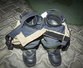pic of apparel  - anti fire boots and apparel of the firefighters - JPG