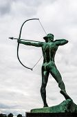 pic of archer  - famous monument of the archer in Dresden - JPG