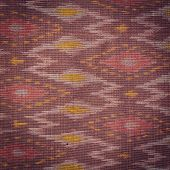 pic of northeast  - Close up Thai style handcrafted textile made by silk from northeast Thailand - JPG