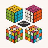 image of cube  - Set of Rubik - JPG