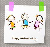 stock photo of animated cartoon  - happy children day  - JPG
