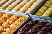 foto of baklava  - Turkish sweet baklava also well known in middle east.