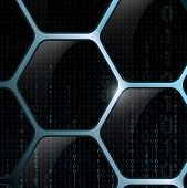 pic of binary code  - Background of the cells and the binary code - JPG
