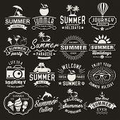 stock photo of dolphin  - Summer logotypes set - JPG