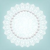 stock photo of doilies  - Template for wedding - JPG