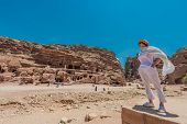 image of petra jordan  - in Nabatean Petra Jordan middle east - JPG