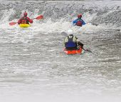 picture of kayak  - Action sport with copy space  - JPG
