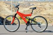 picture of suspension  - Modern Red Full Suspension Mountain Bike MTB Bicycle - JPG