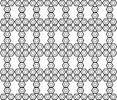 picture of hexagon pattern  - Design seamless monochrome hexagon geometric pattern - JPG