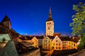 image of nicholas  - Evening View of Old Town and Saint Nicholas  - JPG