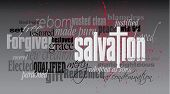 Постер, плакат: Salvation Christian word montage