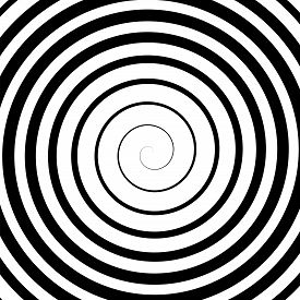 picture of hypnotic  - Black Spiral Background - JPG