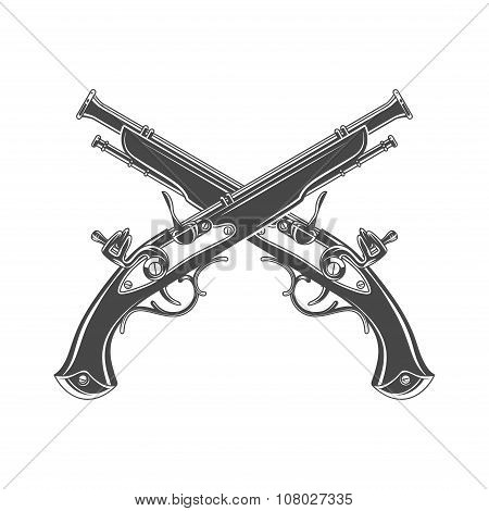 Firelock musket vector Armoury logo