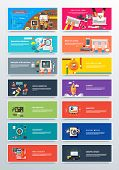 Set Concept Pay Per Click, Startup and Analitics poster