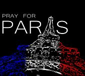 Постер, плакат: Pray For Paris