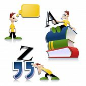 stock photo of bookworm  - Collection of education related images - JPG