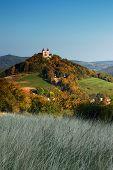 picture of banska  - Autumn Calvary - Banska Stiavnica, Slovakia UNESCO ** Note: Slight graininess, best at smaller sizes - JPG