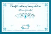pic of prospectus  - illustration of certificate template decorated with floral frame - JPG