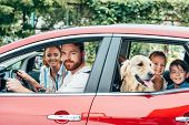 Family Travelling By Car poster
