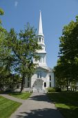 pic of cape-cod  - Old white new england church located on Cape Cod - JPG