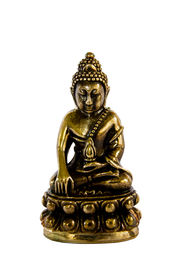 stock photo of obeah  - Amulet Buddha Statue On White Background With Clipping Path - JPG