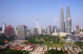 stock photo of petronas towers  - kuala lumpur city - JPG