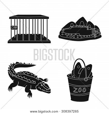 poster of Vector Design Of Fauna And Entertainment Logo. Collection Of Fauna And Park Stock Vector Illustratio