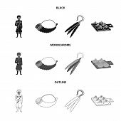 Vector Illustration Of Culture And Sightseeing Icon. Collection Of Culture And Originality Stock Sym poster