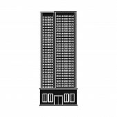 Isolated Object Of Skyscraper And Hotel Logo. Collection Of Skyscraper And Center Vector Icon For St poster