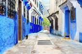 Traditional Moroccan Architectural Details In Chefchaouen Morocco, Africa. poster