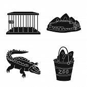 Vector Design Of Fauna And Entertainment Logo. Collection Of Fauna And Park Stock Vector Illustratio poster